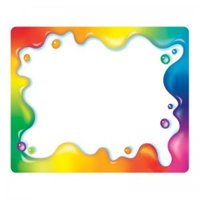 (6 Pk) Rainbow Gel Name Tags