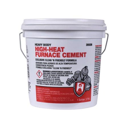 - Hercules 35526 High-Heat Furnace & Stove Cement, Gallon
