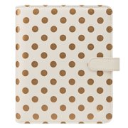 Classic Planner Love Simulated Leather Gold Dots Binder