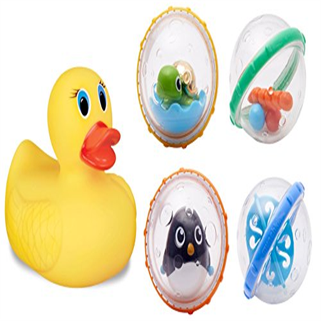 Munchkin Float & Play Bubbles Bath Toy with White Hot Ducky