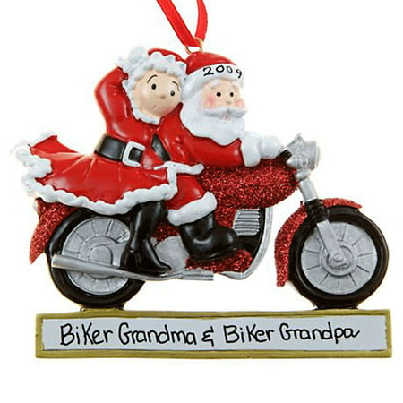 Motorcycle Couple Personalized Christmas Ornament DO-IT-YOURSELF