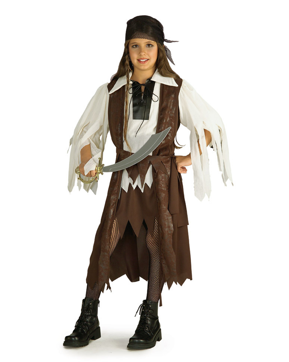 Girls Caribbean Princess Buccaneer Scalawag Pirate Captain Costume by Rubies Costume Co