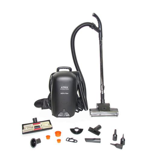 Atrix Backpack HEPA Vacuum, Black