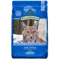 [Multiple Sizes] Blue Buffalo Wilderness High Protein Grain Free, Natural Adult Indoor Dry Cat Food, Chicken