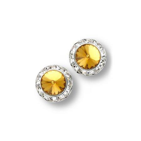 Glamour Dess Jewelry Er130 11ty Pierced Rhinestone Earrings Dance 11mm