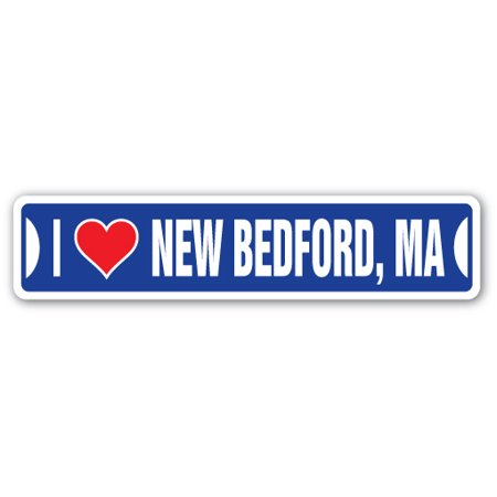 I LOVE NEW BEDFORD, MASSACHUSETTS Street Sign ma city state us wall road décor gift](Party City Ma)
