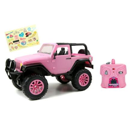 Girlmazing 1:16 Big Foot Jeep RC Remote Control Car 2.4 GHz Pink Radio Control Cars
