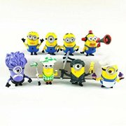 Inspired Despicable Minion Characters Toys Set for Kids | 8 pc Set 5 cm Figure