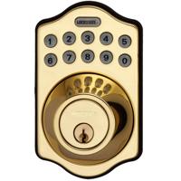 LockState RemoteLock Keyless 500i POLISHED BRASS Electronic Deadbolt Lock