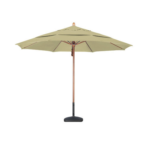 Bundle-90 California Umbrella 11' Fiberglass Wood Market Umbrella (2 Pieces)