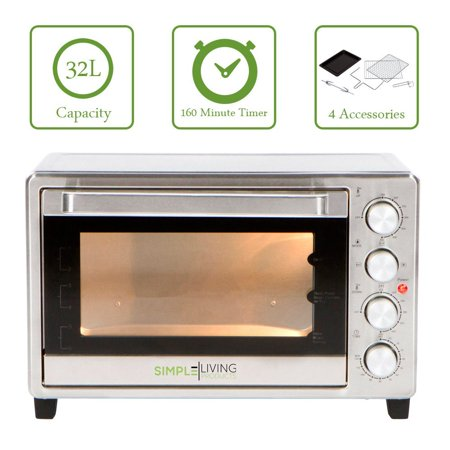 Simple Living Products SL-C32L 32L XL Convection Oven - Counter Top Compatible with Multiple Cooking