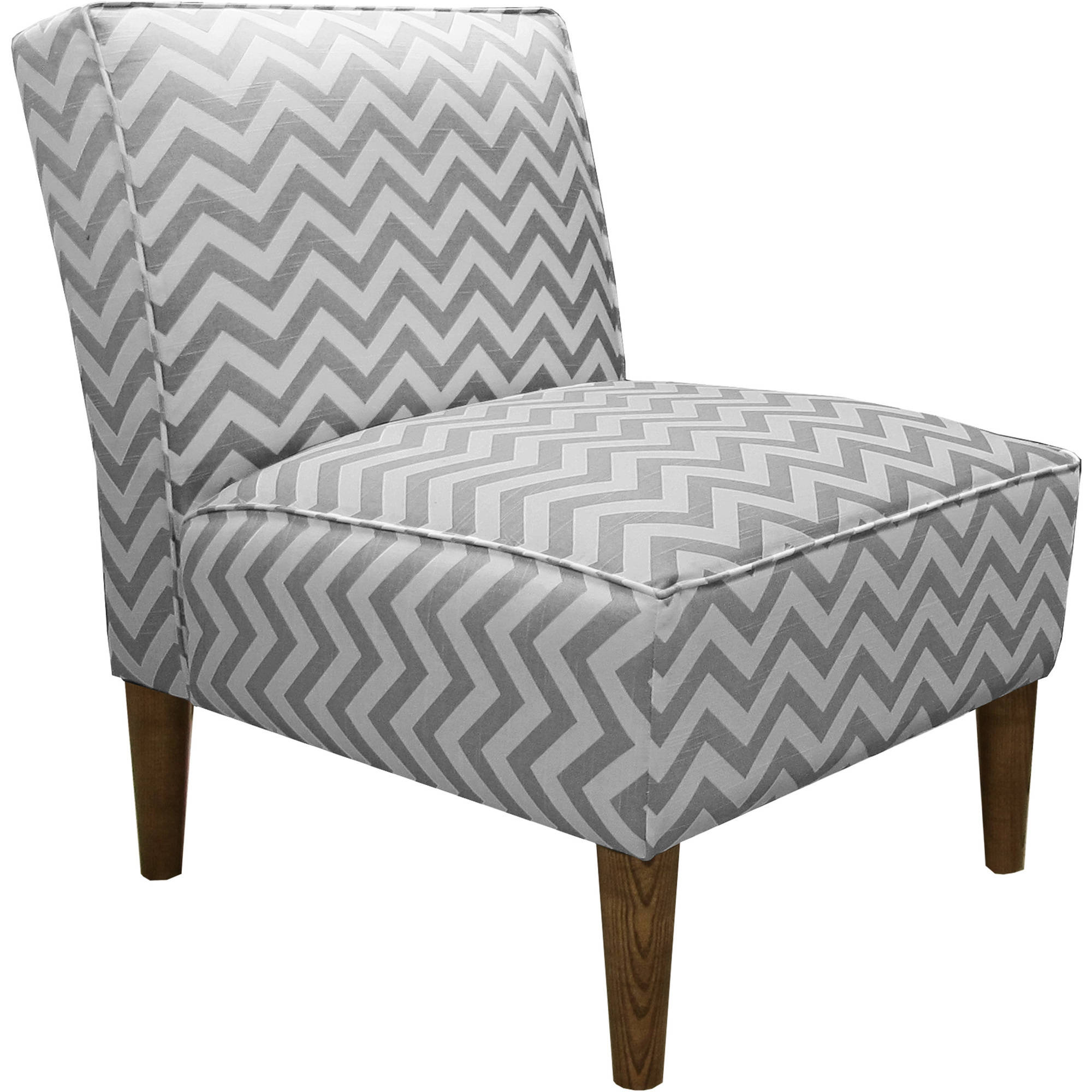 Armless Chair in Zig Zag, Multiple Colors