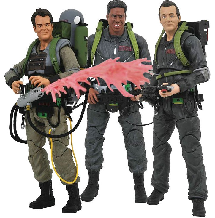 Ghostbusters Select Series 8 Winston, Ray & Peter Set of 3 Action Figures