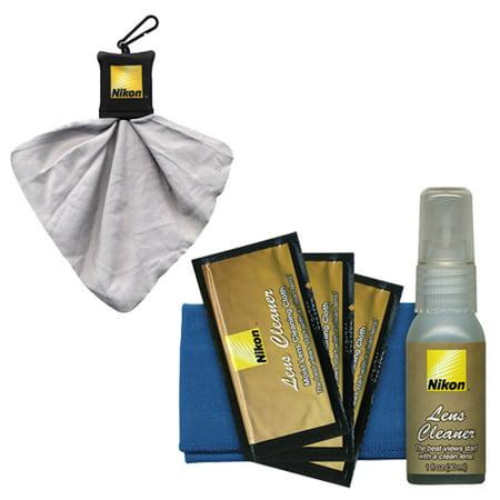 Nikon Camera & Lens Cleaning Kit + Spudz Microfiber Lens Cloth for Digital SLR Cameras & Lenses