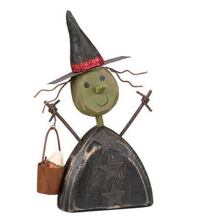 Vintage Style Chunky Witch Sitter Halloween Figurine Primitives by Kathy New