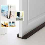 1pc Twin Door Draft Dodger Guard Stopper Energy Saving Protector Doorstop Door and window cleaning strip