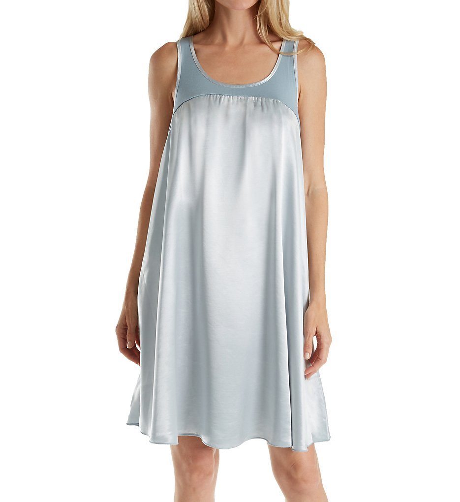 PJ Harlow Lindsay Satin and Rib Nightgown