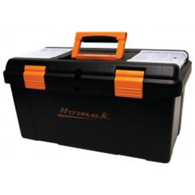 23 in. Plastic Tool Box with Tray & Dividers