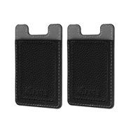 2 Pack Self Adhesive Credit Card Holder - Fintie PU Leather Stick On Card Wallet Case for All iPhone and Smartphones