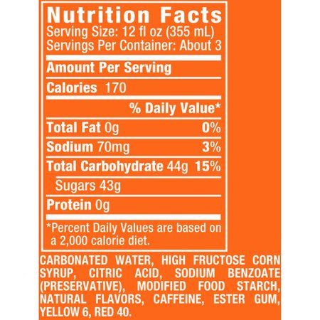 Sunkist Orange Soda, 33.8 Fl. Oz