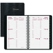 "Brownline Telephone/address Weekly Planner - Weekly, Daily - 3.50"" X 6"" - 1 Year - January 2016 Till December 2016 - 7:00 Am To 6:00 Pm 1 Week Double Page Layout - Black (cb100jblk_35)"