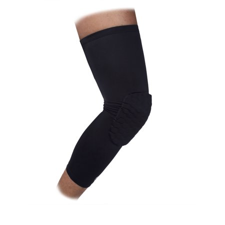 New Hot Honeycomb Knee Pad Crashproof Antislip Basketball Extended Long Knee Leg Protection Sleeve Protector,M-2XL - Walmart.com