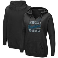 Carolina Panthers Majestic Women's Quick Out V-Neck Hoodie - Black
