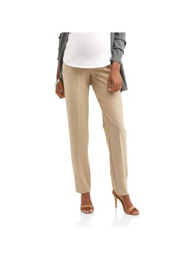 fed196ea7c143 Product Image Maternity Full-Panel Straight Leg Career Pants -- Available  in Plus Sizes