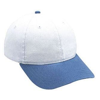 23e4db3f Wholesale 12 x OTTO Garment Washed Deluxe Cotton Twill 6 Panel Low Profile  Dad Hat - Sky Blue/White - (12 Pcs)
