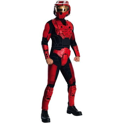 Halo Deluxe BLUE Spartan Red Vs Blue Adult Costume Standard NO HELMET
