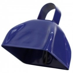 Blue Metal Cowbell - 12 Pack - Cowbell Decorations