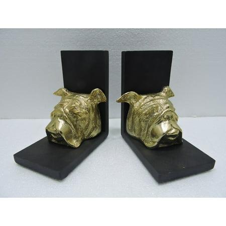 Bulldogs Furniture - CDI International Furniture Aluminum Bulldog Bookends