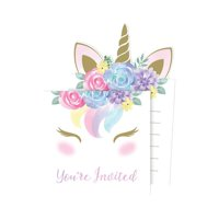 Creative Converting 344438 4 x 6 in. Unicorn Baby Shower Invitations, Case of 6 - 8 Count