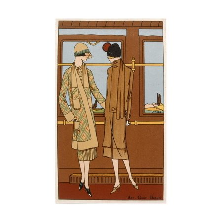 The Romance of Rail Travel, Fashion Plate from 'Art, Gout, Beaute', Pub. Paris, 1920'S Print Wall - 1920's Decor