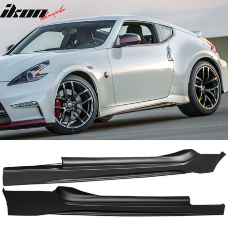 Fits 09-19 Nissan 370Z NS Style Side Skirts Pair Unpainted Black PP