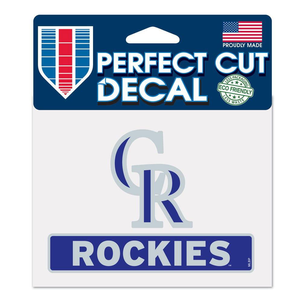 """Colorado Rockies WinCraft 4"""" x 5"""" Perfect Cut Logo Slogan Decal - No Size"""