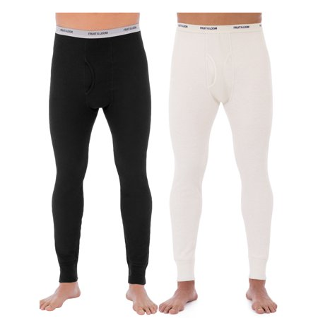 - Fruit of the Loom Men's Classic Bottoms Thermal Underwear for Men, Value 2 Pack (2 pants)