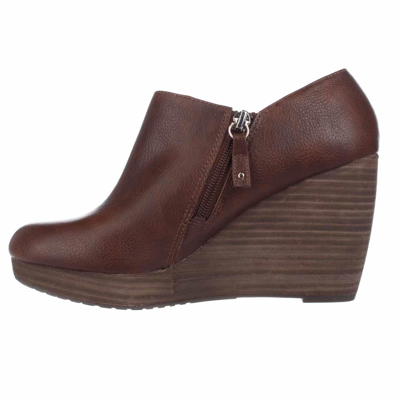 a334704269ba Dr. Scholl s Shoes - Womens Dr. Scholl s Honor Wedge Platform Booties -  Whiskey - Walmart.com