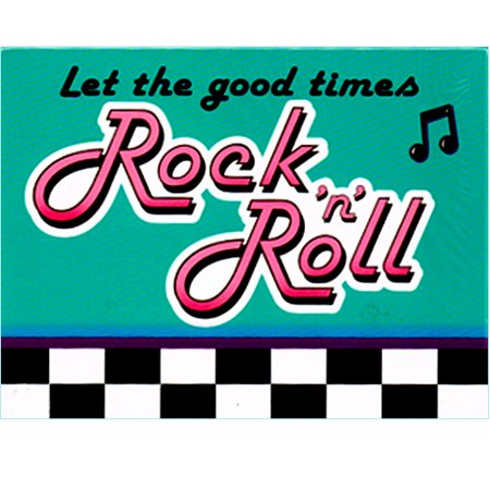 I Love Rock and Roll Invitations w/ Envelopes (8ct) (Rock And Roll Birthday Invitations)
