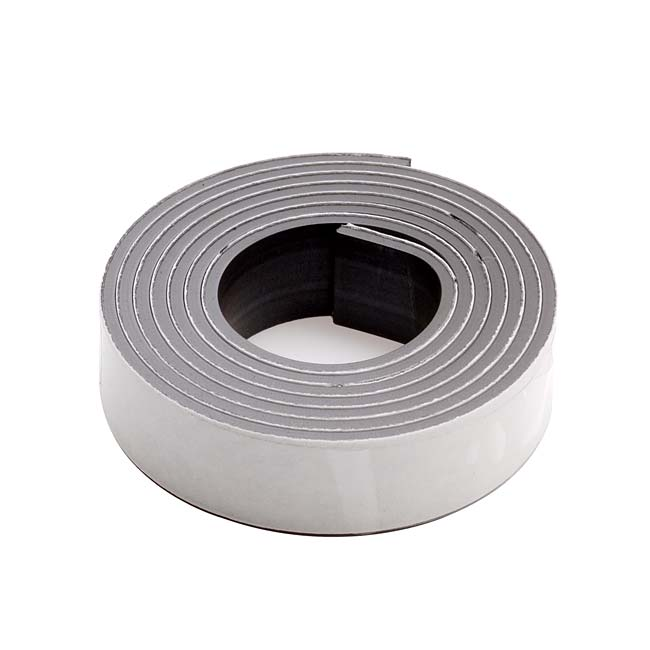 Craft And Hobby Peel And Stick Rubber Magnetic Tape 1/2 Inch Wide (30 Inch Roll)