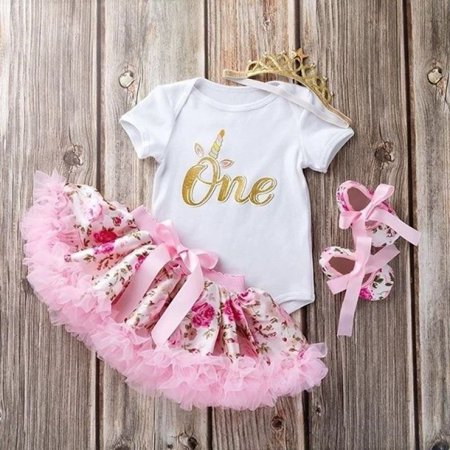 Cute Newborn Toddler Baby Girls 1st Birthday Floral Romper Tutu Skirt Dress - Diy Cute Outfits
