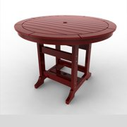 Round Counter Table by Malibu Outdoor - Laguna, Red - 48''