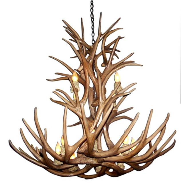 CDN Antler Design UNSFMDCA-L 27-30 inch Reproduction Antler Chandelier, Large by CDN Antler Designs