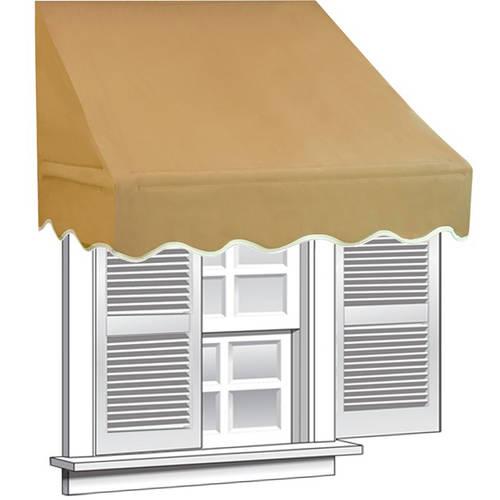 ALEKO 4' x 2' Window Awning Door Canopy, Sand Color