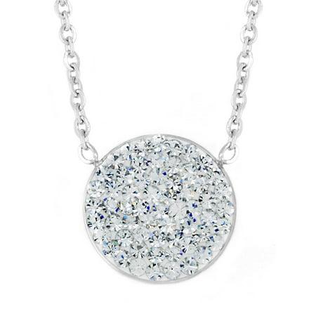 ELYA - ELYA Stainless Steel Crystal Circle Pendant Necklace ... cc4c83cde