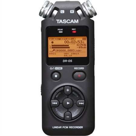 TASCAM Portable Handheld Recorder DR05 (Best Portable Field Recorder)