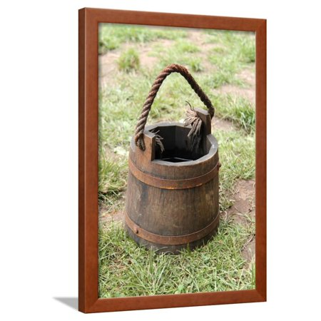 Wooden Bucket Framed Print Wall Art By Daseaford