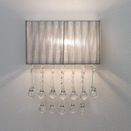 "Possini Euro Design Possini Euro Pernelle 14"" High Silver Crystal Wall Sconce"