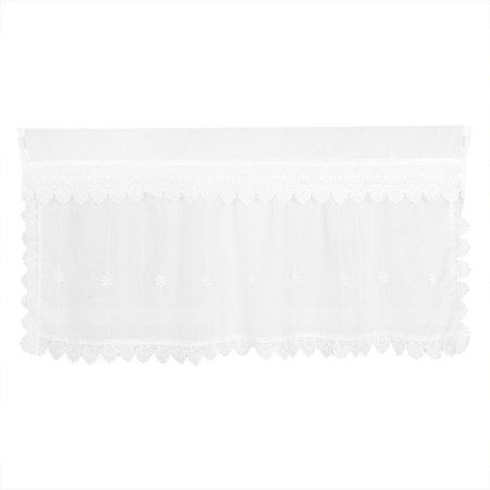 47 Inch Raised Panel - Polyester Flower Printed Blackout Curtain Window Valance 47 Inch x 27.6 Inch
