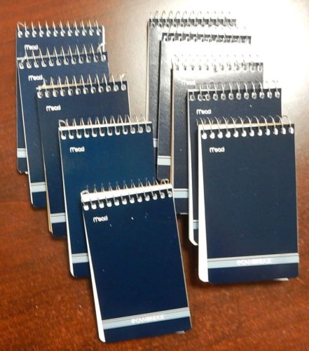 """10 MEAD CAMBRIDGE Writing Pad 3"""" x 5"""" Small Memo Book Wirebound Notebook 70SHeet by"""